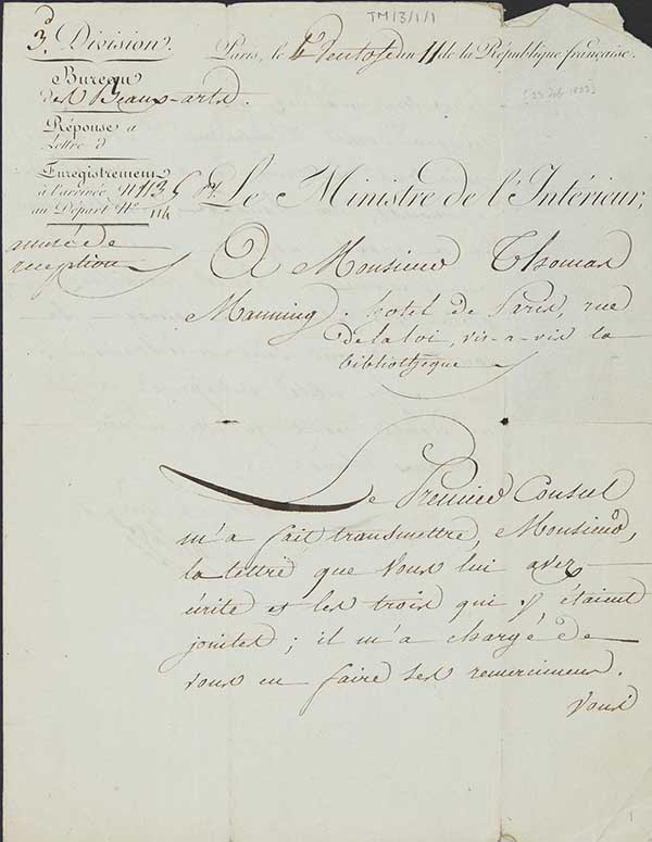 TM/03/ : Correspondence Thomas Manning in France 1802-1804 Archives ...