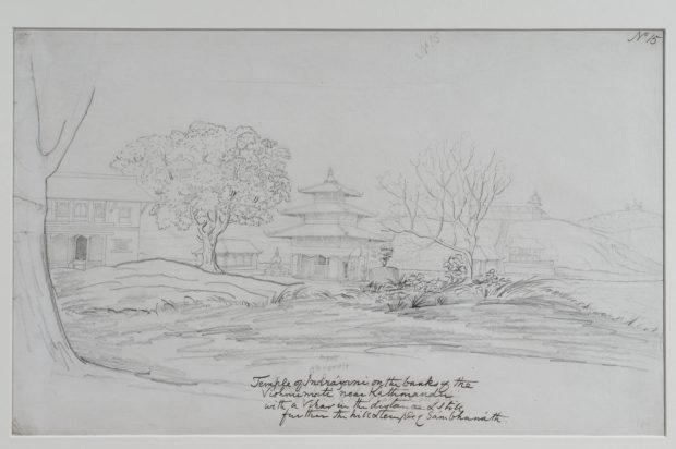 Temple of Indrayani on the Vishnumati river near Kathmandu.