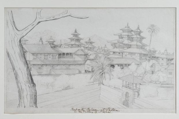 View of the palace at Patan.