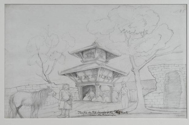 Temple on the River Vishnumati, Near Kathmandu.