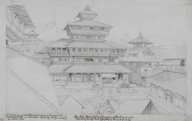The Dhansa Temple, Kathmandu.