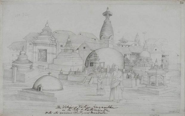 The Monastery of Kathisambhu, Kathmandu.
