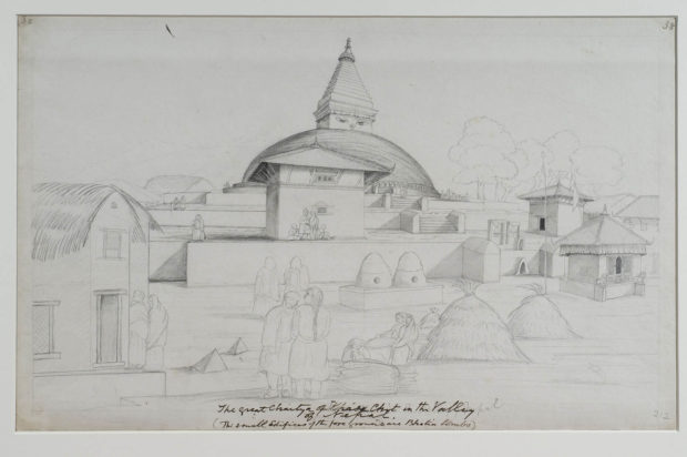 The stupa at Bodhnath, near Kathmandu.