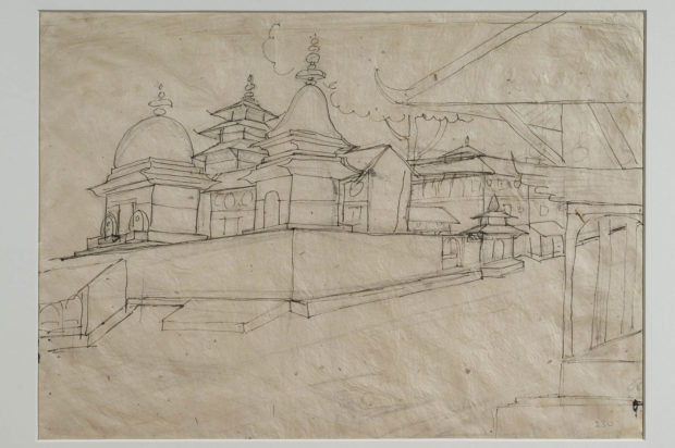 A sketch of some Temples, probably at Kathmandu.