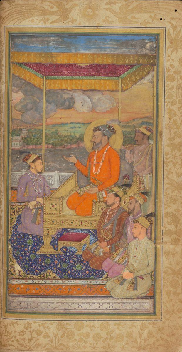 [RAS Persian 310, 5b] The Durbar of Shah Jehan