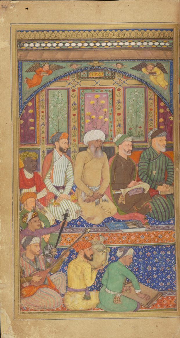 [RAS Persian 310, 20a] Poets in the company of Zafar Khan