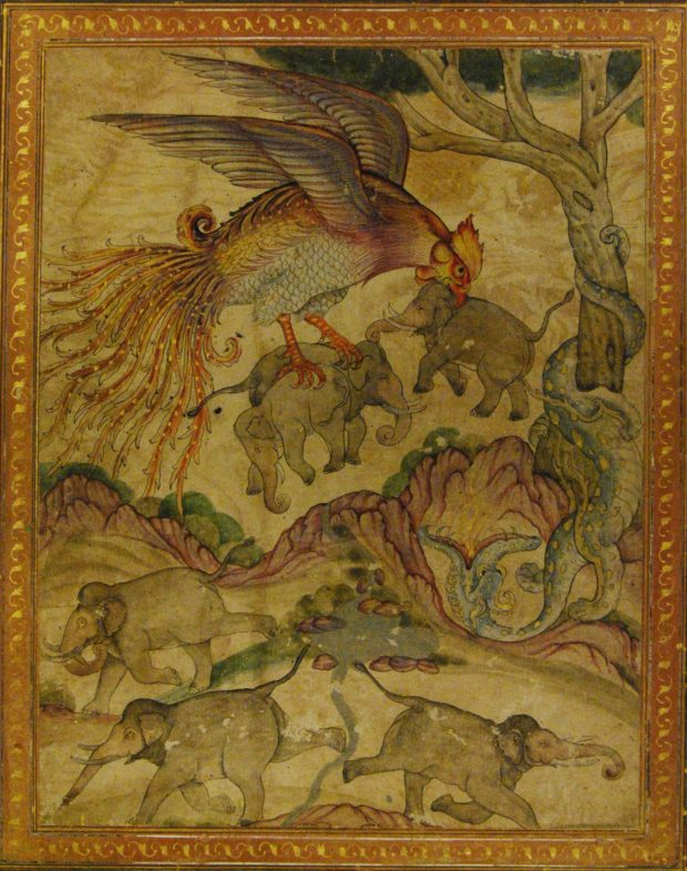 [RAS 053.008] Simurgh carries off baby elephants